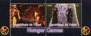 Chad 2014 CTO Hunger Games 2v M/S Movies Films Stamps