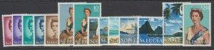 St. Lucia, Scott 182-195 (SG 197-210), MLH