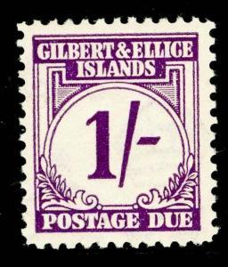 GILBERT & ELLICE ISLANDS SGD7, 1s violet, LH MINT. Cat £24.