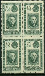 MEXICO 827 15c Cent Intl Philat Exhib U.S. #2 Blk 4 MNH VF. (211)