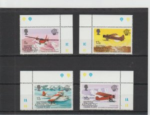 British Antarctic Territory  Scott#  117-120  MNH  (1983 Manned Flight)