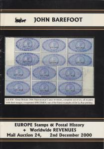 Worldwide Revenues, Europe Stamps and Postal History, John Barefoot Sale 24