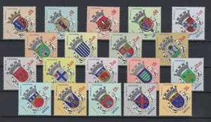 D - Angola 1963 Brasôes - 1ª Emissão set of 19 values MNG 436/454