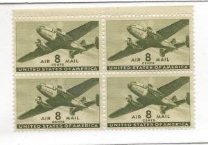 United States, C26, Transport Plane 1941-44 Block(4), MNH