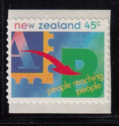 New Zealand 1994 MNH #1226 45c People reaching people Booklet stamp