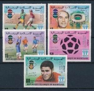 [60660] Mauritania 1978 World Cup Soccer Football with overprint in silver MNH