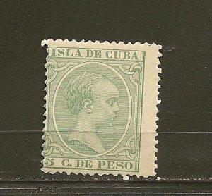 Cuba 144 King Alfonso XIII MNH