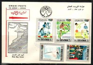 Oman State, 1968 IMPF issue. Olympics with Scouts shown. First day cover.*