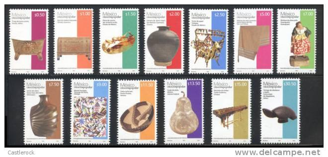 vtadc.T)MEXICO 2012, FOLK ART 2012 DEFINITIVES,SET(13),MNH.-