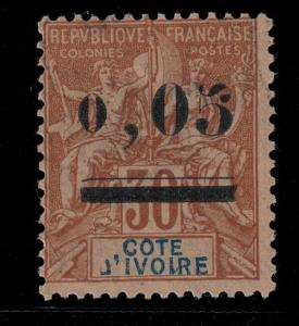 Ivory Coast 1904 SC 18 Mint SCV $88.00