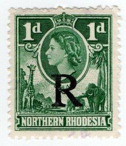 (I.B) Northern Rhodesia Revenue : Duty Stamp 1d