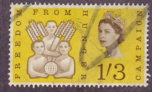 Great Britain # 391, Freedom from Hunger, Used, 1/3 Cat