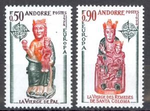 Andorra French Sc# 232-233 MNH 1974 Europa Issue