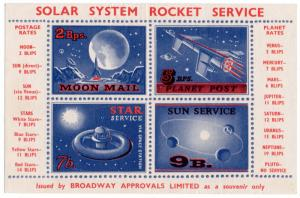 (I.B) Cinderella Collection : Solar System Rocket Mail (Broadway Approvals)