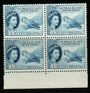 SOMALILAND SG142 1953 35c DEFINTIVE MNH BLOCK OF 4