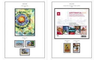 COLOR PRINTED BELGIUM 2000-2010 STAMP ALBUM PAGES (155 illustrated pages)