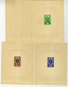 Cameroon Rare Set of Stamps # 297A-303 Deluxe Proof Sheets