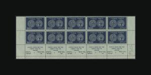 VINTAGE:ISRAEL 1948 OG NH BLOCKS OF 10 FULL TABS SCOTT # 7-9  RARE....