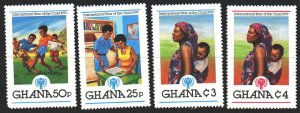 Ghana. 1980. 808-12 from the series. UNICEF, children, football. MLH.