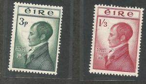 IRELAND 149-150, HINGED, PAIR OF STAMPS, 150TH ANNIV. OF EXECUTION OF ROBERT ...