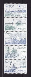 Sweden 1410-1414 Set MNH Ships (C)