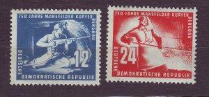 J23296 JLstamps 1950 germany DDR set mh #68-9 miners