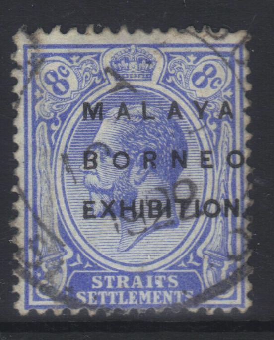STRAITS SETTLEMENTS 1922 OPTD SG244 USED CAT £12