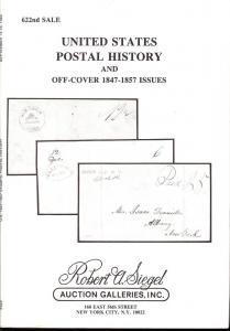 Siegel: Sale # 622  -  United States Postal History and O...