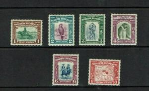 North Borneo: 1939, Pictorial definitive series, part set to 8c, mint hinged.