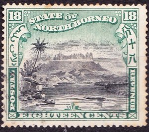 NORTH BORNEO 1897 18c Black & Green SG108 (Cancelled to Order)