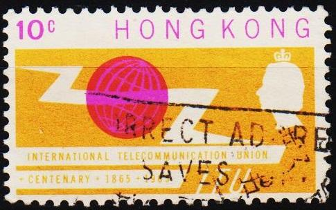 Hong Kong. 1965 10c S.G.214 Fine Used