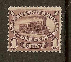 New Brunswick, Scott #6, 1c Locomotive, Used