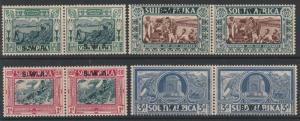 SOUTH WEST AFRICA 1938 VOORTREKKER SET PAIRS