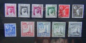 Qatar 1961 set to 10r SG27 - SG37 Fine Used