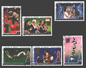 North Korea. 1987. 2852-57. Circus. USED.
