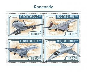 Mozambique Concorde Stamps 2018 MNH Aviation Aircraft 4v M/S