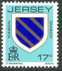 GB JERSEY 1985-91 QE2 17p ARMS Issue Sc 382 MNH