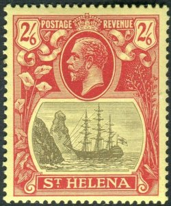 ST HELENA-1922 2/6 Grey & Red/Yellow.  An unmounted mint example Sg 94