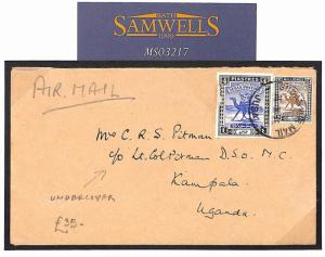 MS3217 Commonwealth Covers 1945 WW2 UPPER NILE *Game Warden* Undercover Mail