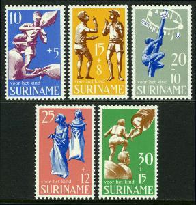 Surinam B157-B161,MNH.Child welfare.Children's games.Pillow fight,Sack race,1969