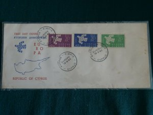 Cyprus 1962 Europa set Unofficial FDC.