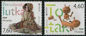 HERRICKSTAMP NEW ISSUES CROATIA Sc.# 953-54 EUROPA 2015 Toys