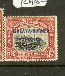 NORTH BORNEO (P0502BB) 3C TRAIN MBE SG256 MNH