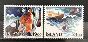 Iceland 1988 #669-70, MNH, CV $2.25