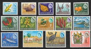 SOUTHERN RHODESIA SG92/105 1964 DEFINITIVE SET MNH