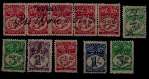 Queensland 11 used Duty stamps