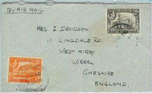 90562 -  ADEN - POSTAL HISTORY -  AIRMAIL COVER  to  ENGLAND 1950