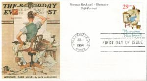 #2839 Norman Rockwell Mystic FDC