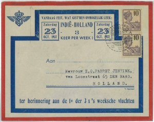 93729 - DUTCH INDIES - POSTAL HISTORY - FIRST Flight COVER  Muller  # 106 1937