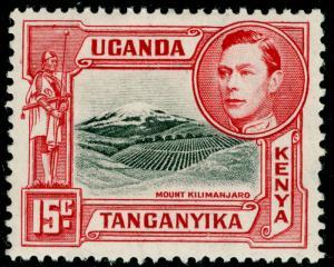 KENYA UGANDA TANGANYIKA SG137a, 15c black & rose-red, M MINT.